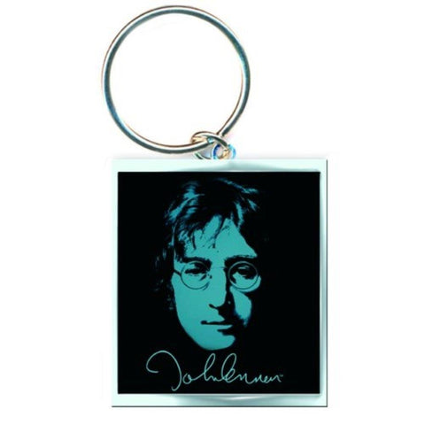 Beatles John Lennon Photo Print Metal Keychain