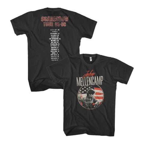 John Mellencamp Circle Flag Distressed Men's T-Shirt