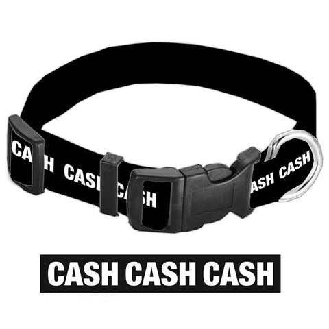 Johnny Cash CASH Dog Collar
