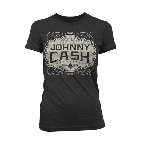 Johnny Cash Est. 1932 Emblem Women's T-Shirt