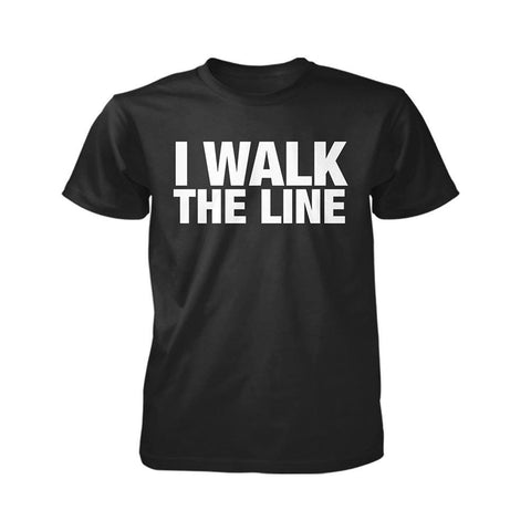 Johnny Cash I Walk The Line Men's Black T-Shirt