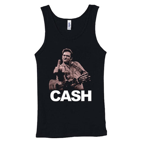 Johnny Cash The Bird Women's Tank T-Shirt