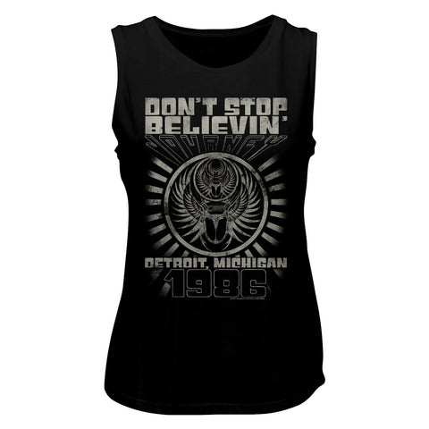 Journey Special Order Detroit '87 Ladies Muscle Tank