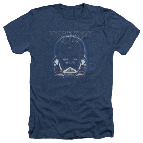 Journey Special Order Frontiers Cover Men's 30/1 Heather 60% Cotton 40% Poly Short-Sleeve T-Shirt