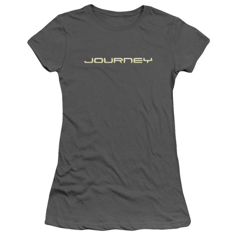 Journey Special Order Logo Junior's 30/1 100% Cotton Cap-Sleeve Sheer T-Shirt