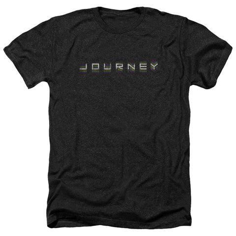Journey Special Order Repeat Logo Men's 30/1 Heather 60% Cotton 40% Poly Short-Sleeve T-Shirt