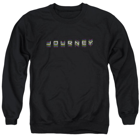 Journey Special Order Repeat Logo Men's Crewneck 50% Cotton 50% Poly Long-Sleeve Sweatshirt