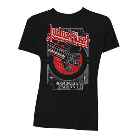Judas Priest Silver and Red Vengeance Men's T-Shirt