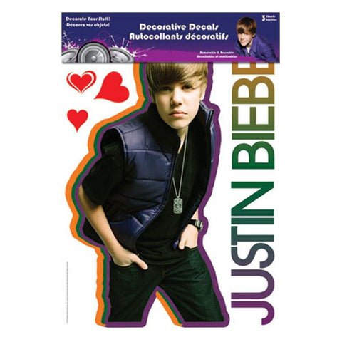 Justin Bieber Front Portrait Assorted Sticker Set