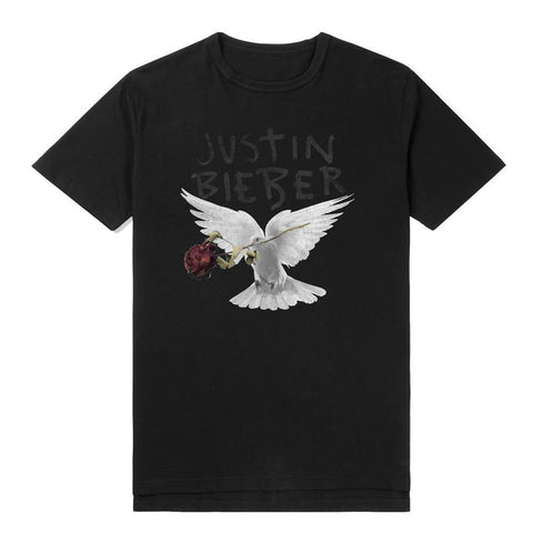 Justin Bieber Dove With Dead Rose Men's T-Shirt