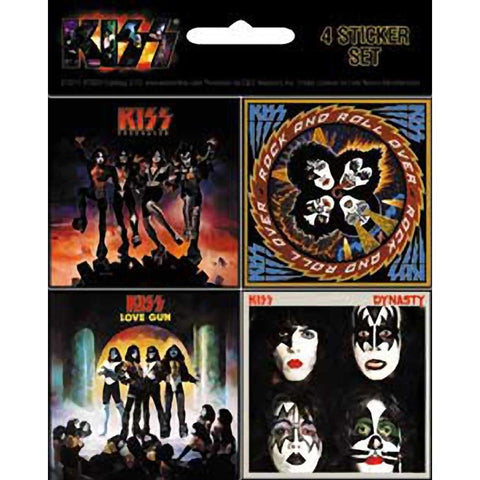 KISS 4 Mini Album Sticker Set