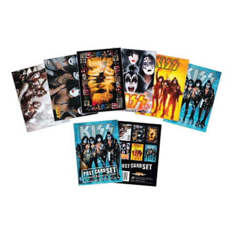 Kiss 6 Piece Assorted Postcard Sets