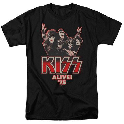 KISS Special Order Alive 75 Men's 18/1 100% Cotton Short-Sleeve T-Shirt