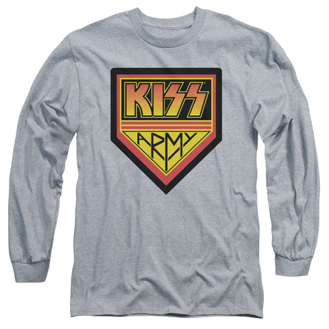 KISS Special Order  Army Logo Men's 18/1 Long Sleeve 100% Cotton T-Shirt