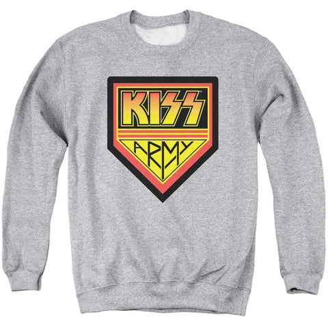 KISS Special Order  Army Logo Men's Crewneck 50% Cotton 50% Poly Long-Sleeve Sweatshirt
