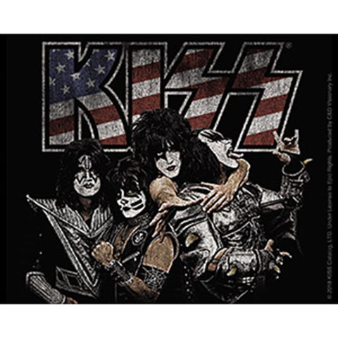 KISS Band Logo Flag Sticker