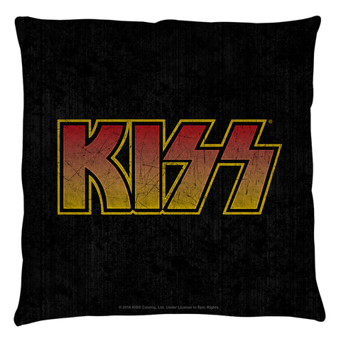 KISS Special Order Classic Logo Throw Pillow - Spun Polyester Light Weight Cotton - Canvas Look and Feel - Blown and Closed - 2-sided