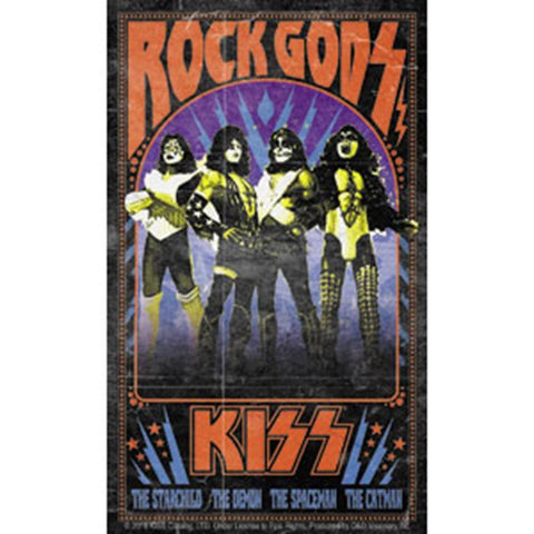 KISS Flame Rock Gods Sticker