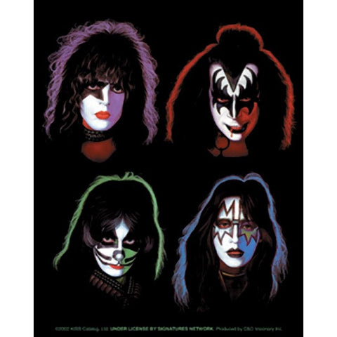 KISS Four Faces Sticker