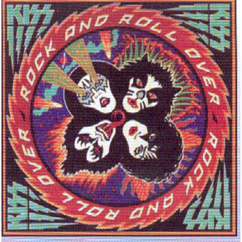 KISS Rock & Roll Over Album Sticker