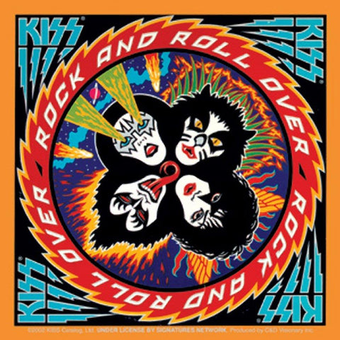 KISS Rock & Roll Over Sticker