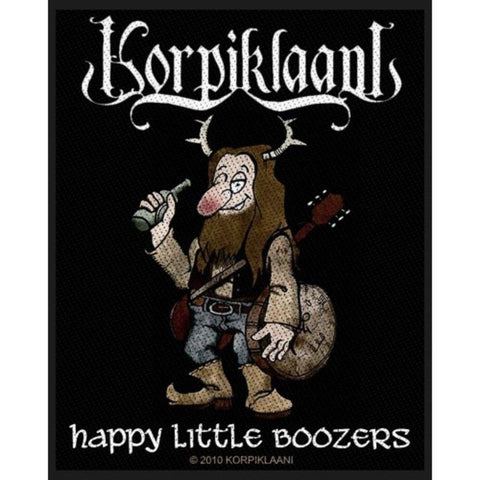 Korpiklaani Happy Little Boozers Woven Sew-on Patch
