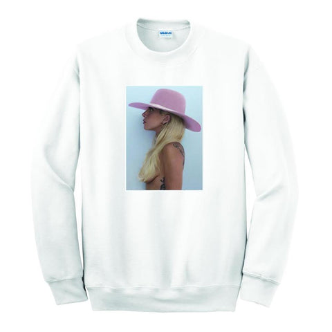 Lady Gaga Joanne White Photo Men's T-Shirt