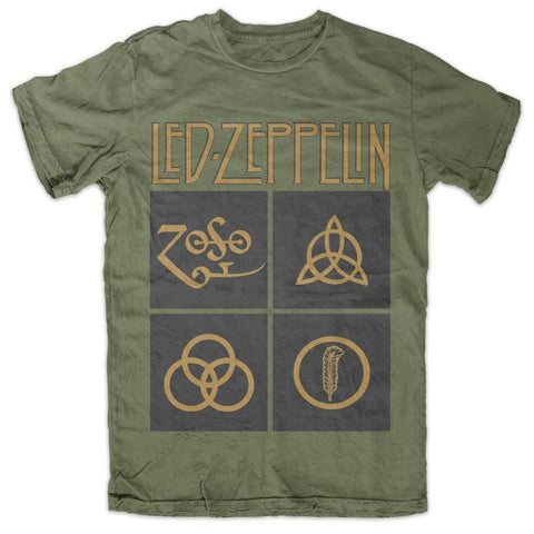 Led Zeppelin Black Box Symbols Men's T-Shirt