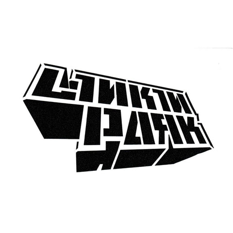 Linkin Park Dimensional Block Logo Rub-On Sticker - Black
