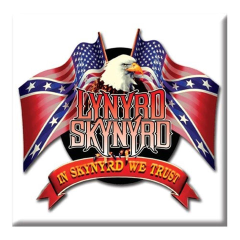 Lynyrd Skynyrd Eagle And Flags Magnet