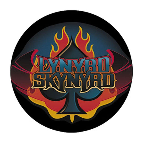 Lynyrd Skynyrd Flaming Spade Logo Button