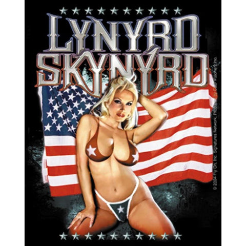 Lynyrd Skynyrd Girl on Flag Sticker