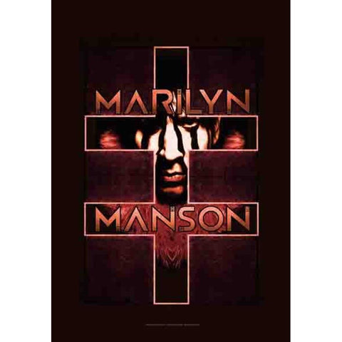 Marilyn Manson Cross Fabric Poster
