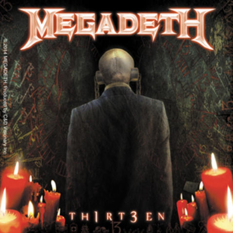 Megadeth 13 Candles Sticker