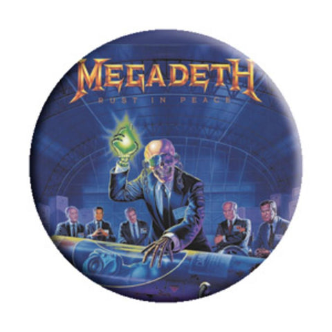 Megadeth Alien Button