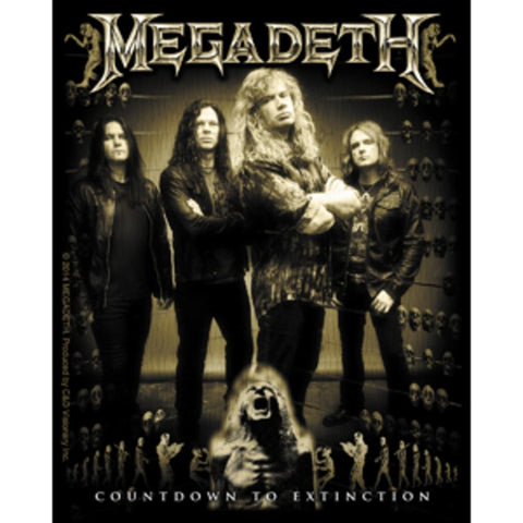 Megadeth Band Photo Sticker
