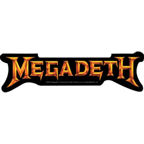 Megadeth Gold Logo Sticker