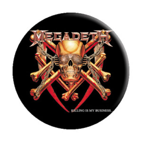 Megadeth Killing Is My Business Button