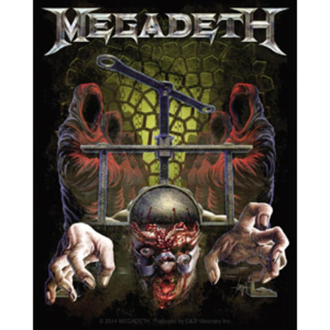 Megadeth Skull Press Sticker