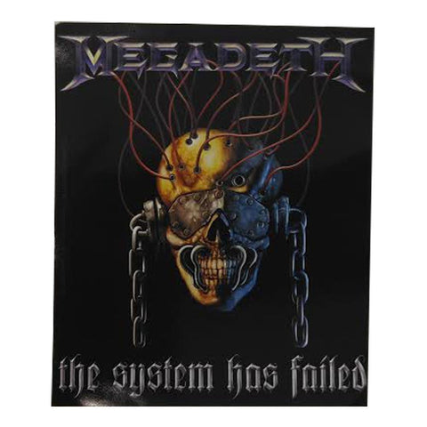 Megadeth System Has Failed Sticker