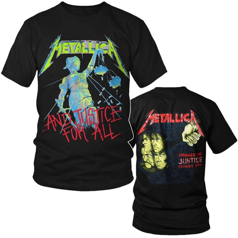 Metallica And Justice for All Men's Black T-Shirt