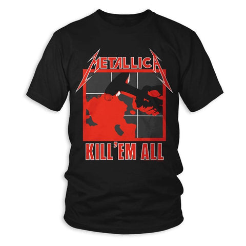 Metallica Kill 'Em All Men's Black T-Shirt