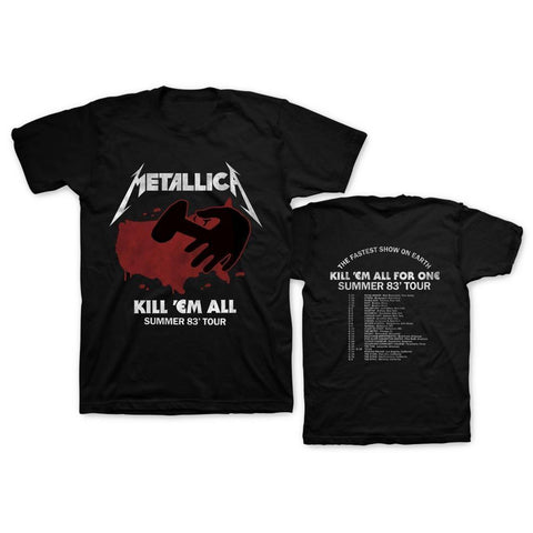 Metallica Kill 'Em All Summer 83 Men's Black T-Shirt