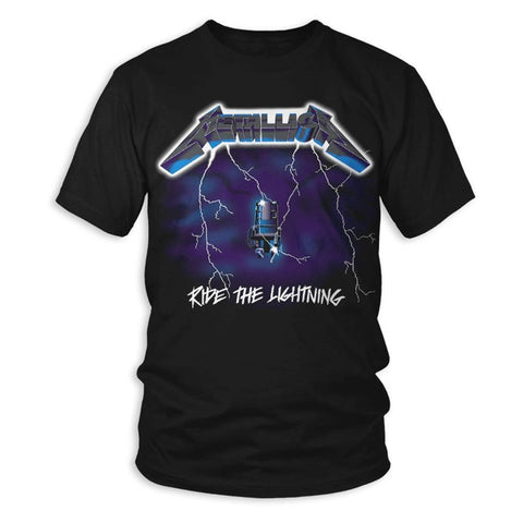 Metallica Ride The Lightning Men's Black T-Shirt
