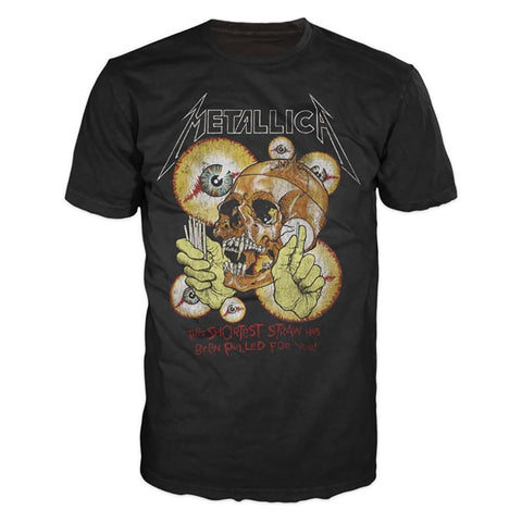 Metallica Shortest Straw Vintage Men's Black T-Shirt