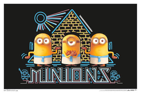 Despicable Me Minions Black Light Poster