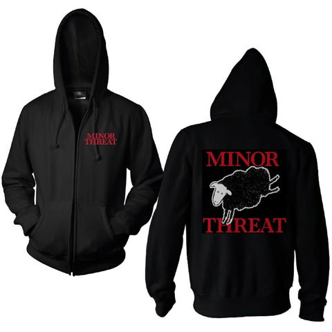 Minor Threat Blacksheep Zip Hoodie Men's Black Zip Hoodie