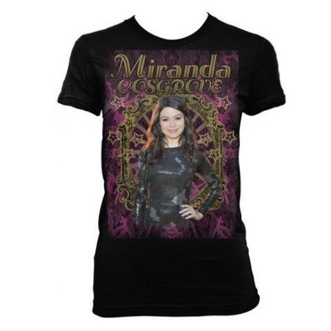 Miranda Cosgrove Photo With Gold Stars Women's T-Shirt