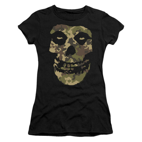 Misfits Camo Skull Junior's 30/1 Cotton Cap-Sleeve T