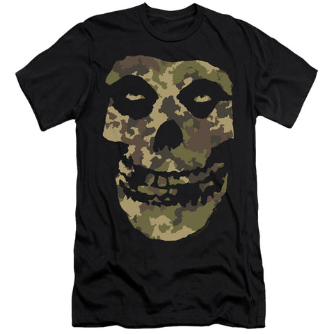 Misfits Camo Skull Men's Ultra-Soft 30/1 Cotton Slim SS T